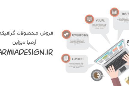 اینفوگرافیک لایه باز وبلاگ نویسی