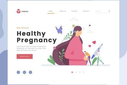 لندینگ پیج لایه باز دوران بارداری