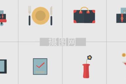 موشن گرافیک عناصر گرافیکی آرم های پویا و شیک