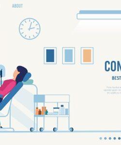 صفحه فرود ارائه مشاوره دندانپزشکی بصورت آنلاین