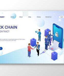 طراحی صفحه فرود Blockchain Smart Contract