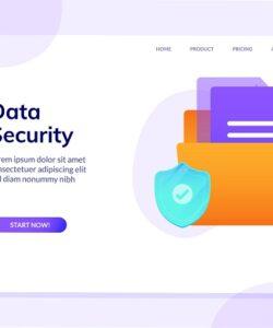 صفحه فرود لایه باز وب سایت امنیت داده ها