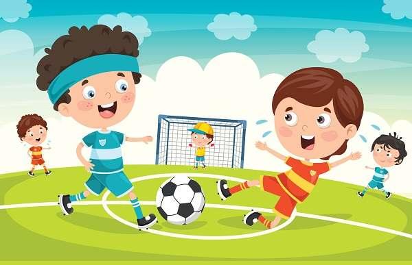 وکتور لایه بازی فوتبال کودکان