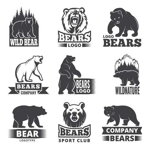 دانلودمجموعه لوگو لایه باز خرس