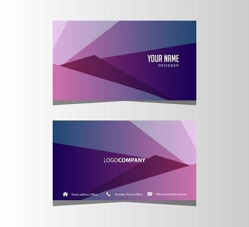 دانلود کارت ویزیت لایه باز شرکتی بنفش