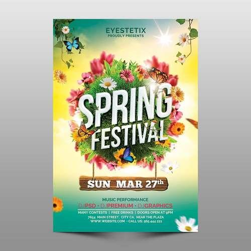 دانلود پوستر لایه باز فصل بهار
