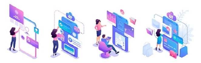 وکتور لایه باز تبلیغاتی و توسعه طراحی وب