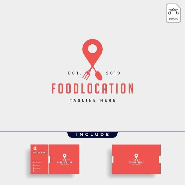 دانلود کارت ویزیت لایه باز غذای آنلاین