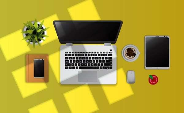 دانلود بک گراند وکتور لپ تاپ