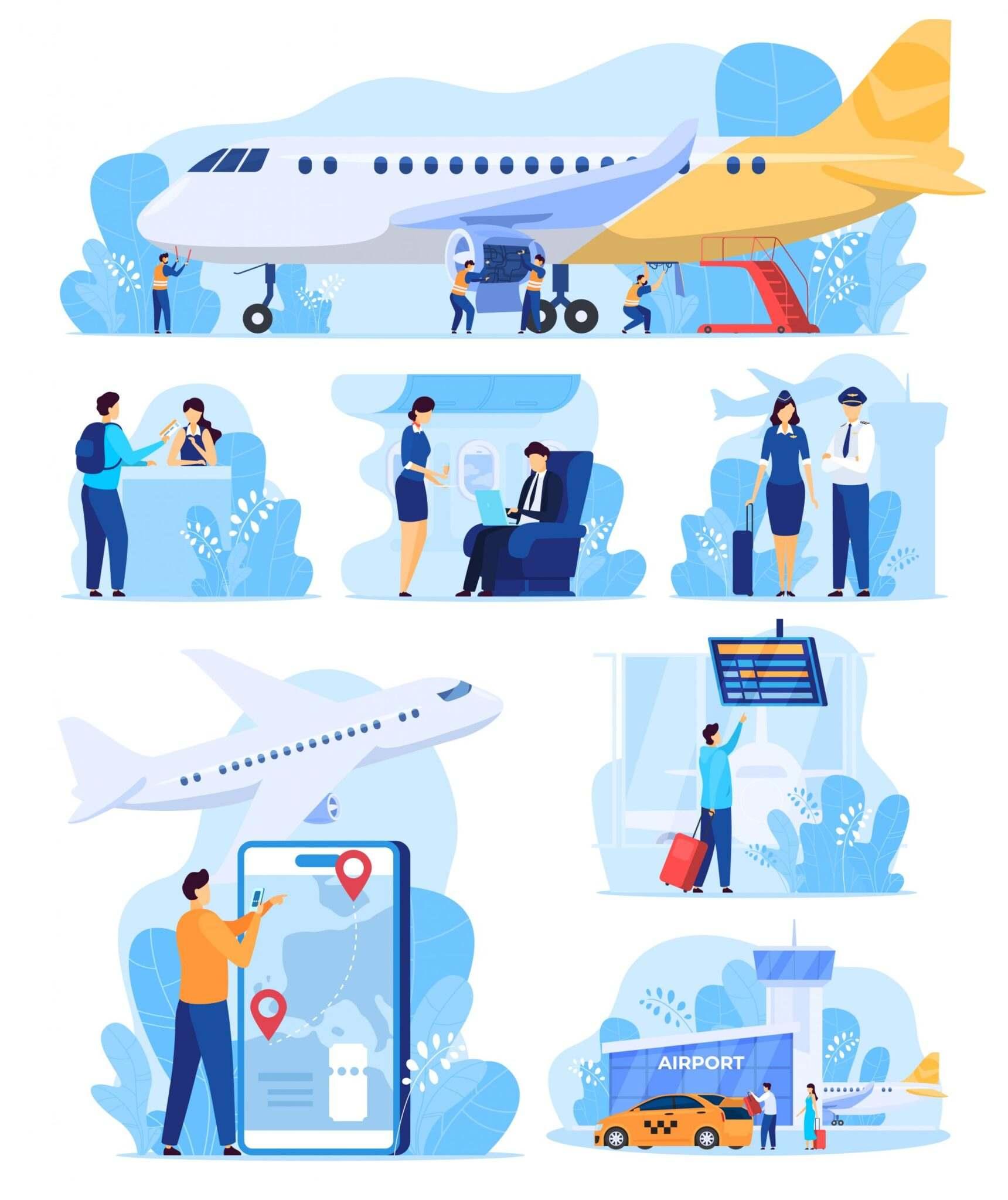 دانلود مجموعه لندینگ پیج مسافرت با هواپیما