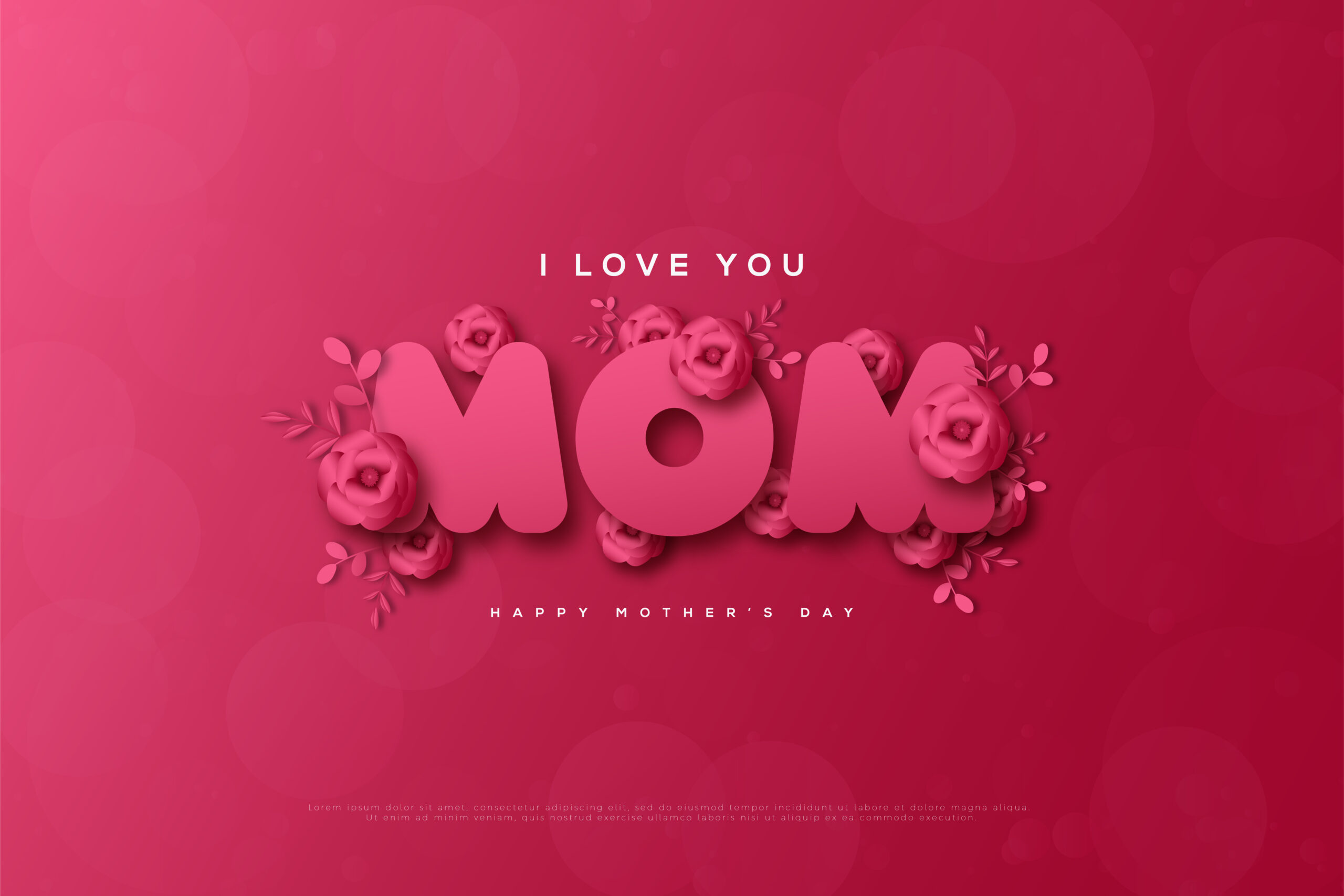 دانلود وکتور تبریک روز مادر
