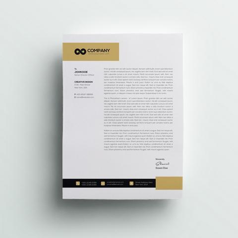 دانلود قالب سربرگ مدرن لایه باز شرکتی A4 با فرمت PSD 🔥