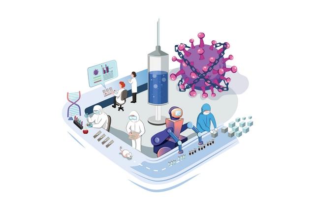 دانلود وکتور لایه باز ویروس کرونا EPS ☀️