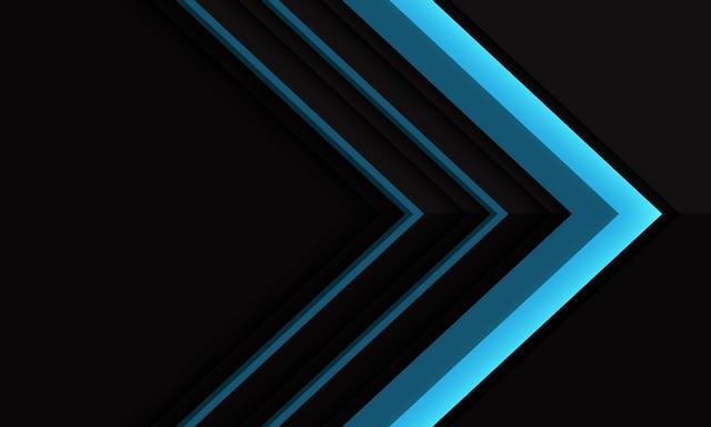 دانلود وکتور لایه باز تصویر پس زمینه آبی رنگ با اشکال هندسی 🔥