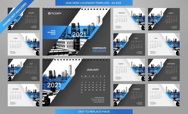 دانلود فایل لایه باز تقویم میلادی سال 2021 🔥