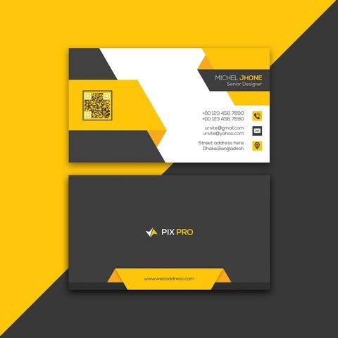 دانلود فایل لایه باز کارت ویزیت مدرن به صورت لایه باز با فرمت PSD 🔥