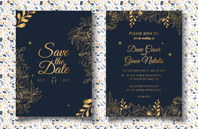 دانلود وکتور کارت دعوت عروسی 🔥